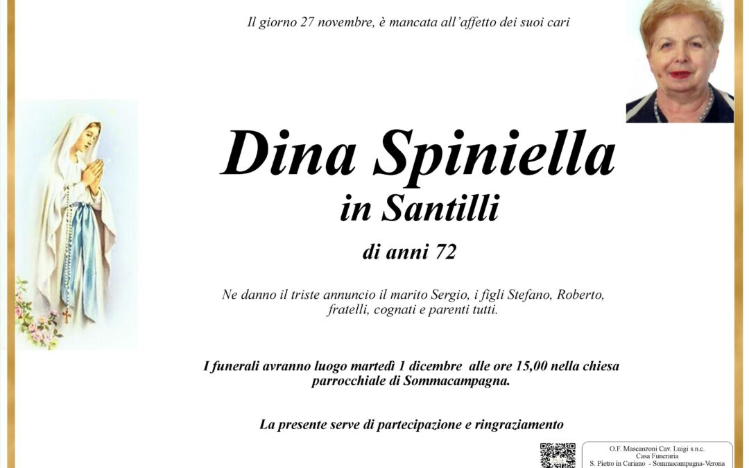 SPINIELLA DINA IN SANTILLI