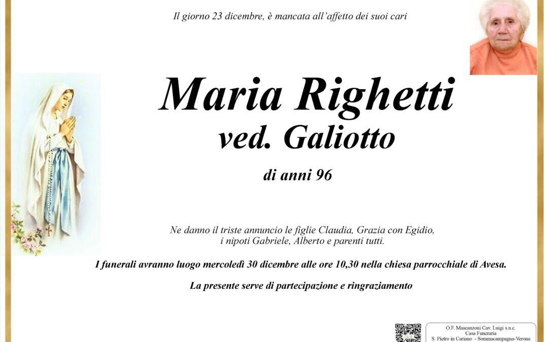 RIGHETTI MARIA VED. GALIOTTO