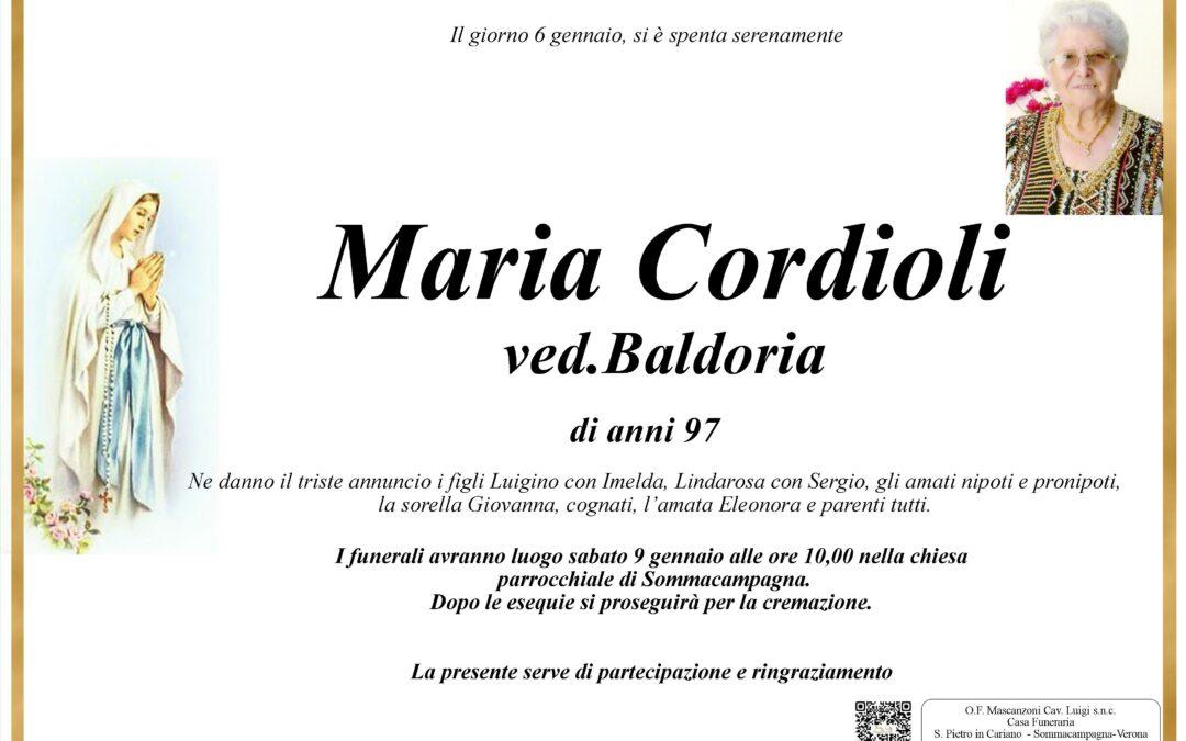 CORDIOLI MARIA VED. BALDORIA