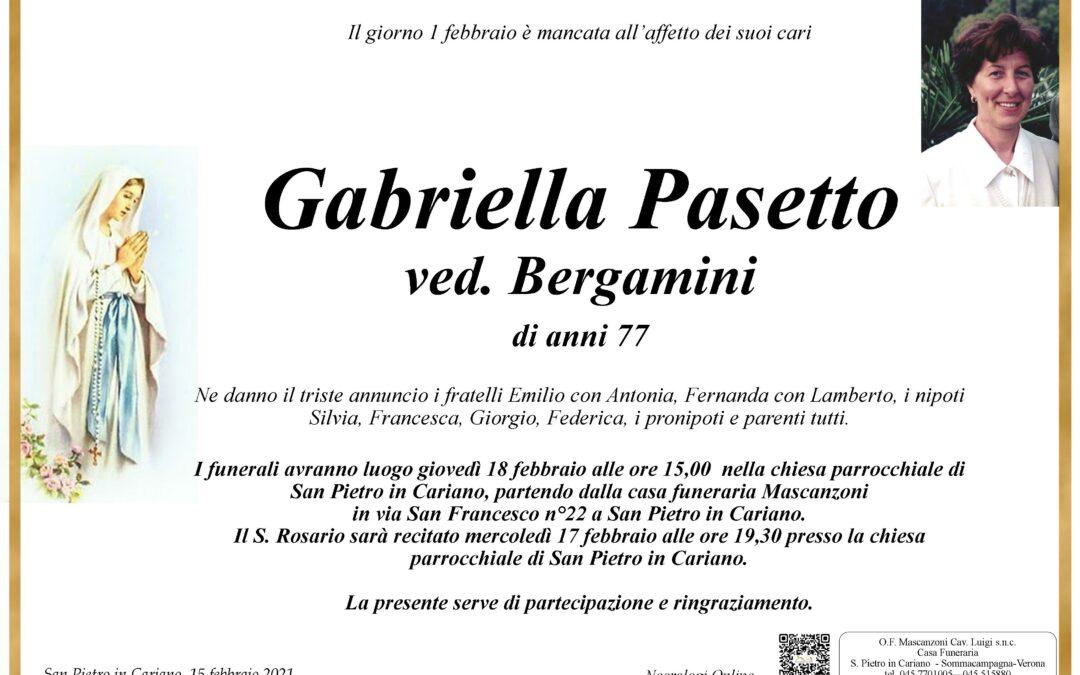 PASETTO GABRIELLA VED. BERGAMINI