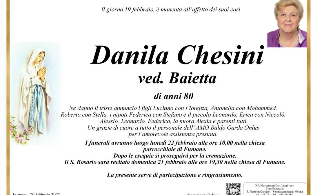 CHESINI DANILA VED BAIETTA