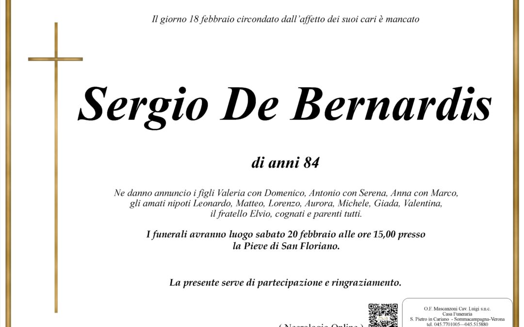DE BERNARDIS SERGIO