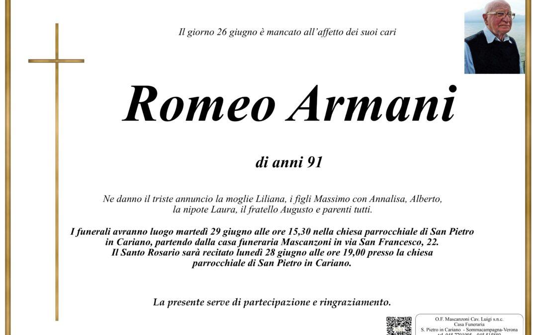 ARMANI ROMEO