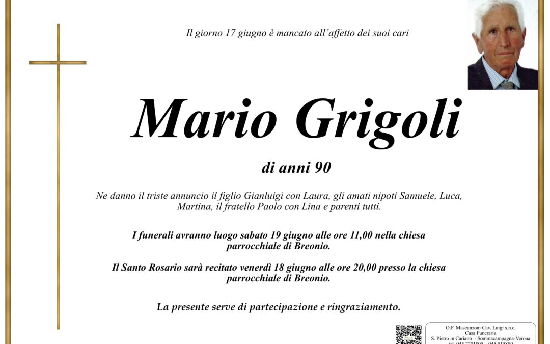 GRIGOLI MARIO