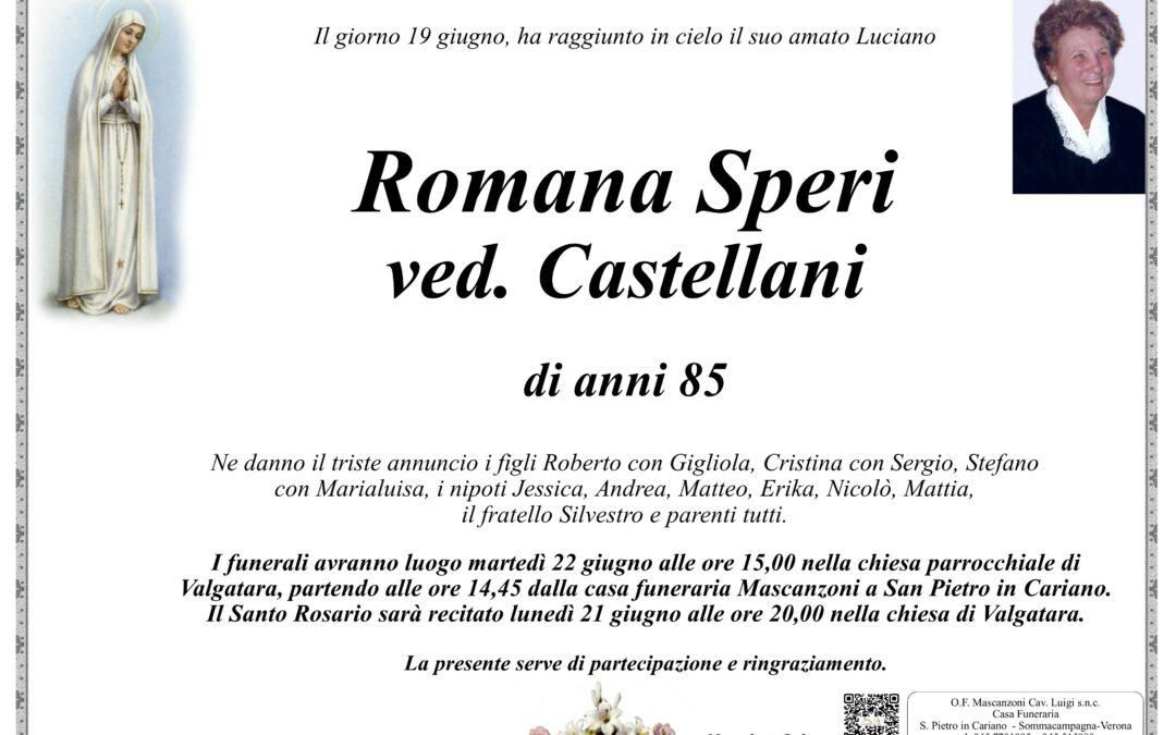 SPERI ROMANA VED. CASTELLANI