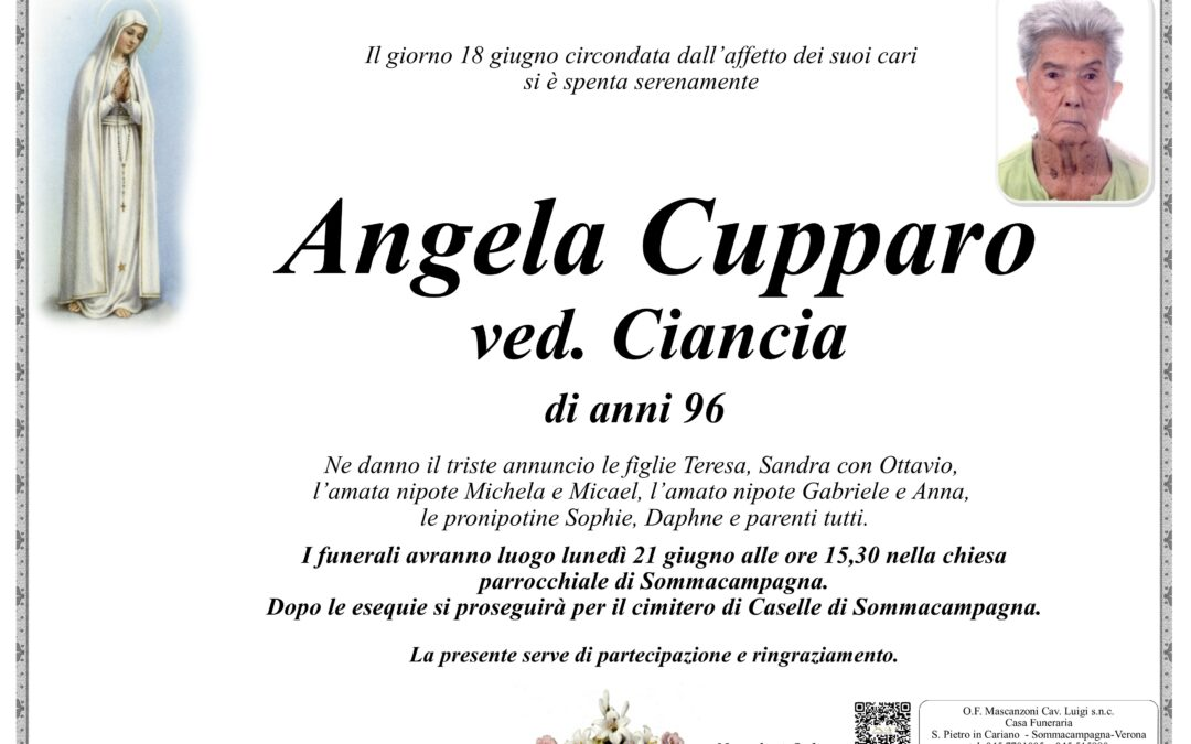 CUPPARO ANGELA VED. CIANCIA