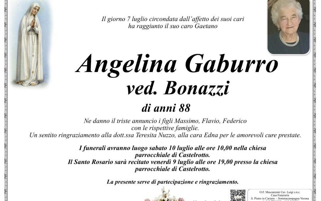 GABURRO ANGELINA VED. BONAZZI