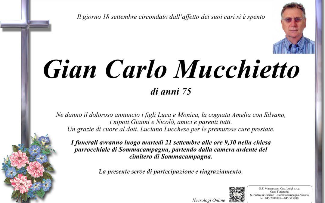 MUCCHIETTO GIAN CARLO