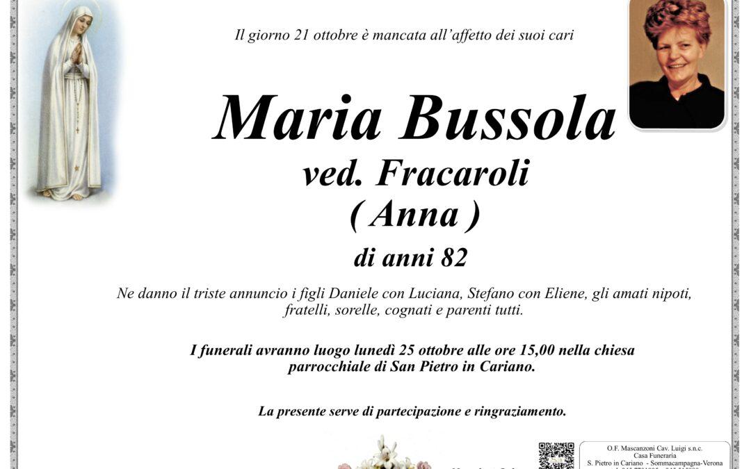 BUSSOLA MARIA VED. FRACAROLI